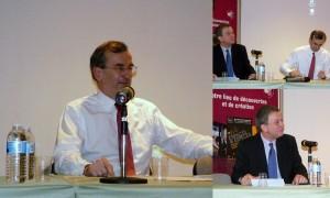 """Conférence : """"La finance, économie virtuelle... crises ou service des hommes ?"""", avec François Villeroy de Galhau et Christian Aubin."""