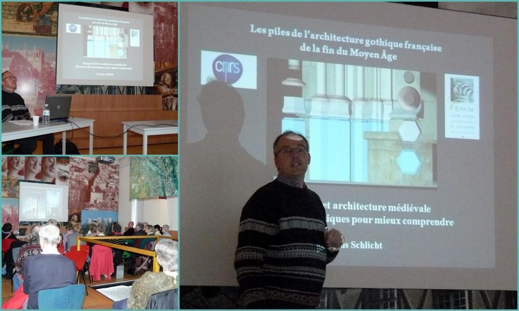 """Conférence : """"L'architecture gothique et l'imagerie 3d"""", avec Markus Schlicht."""